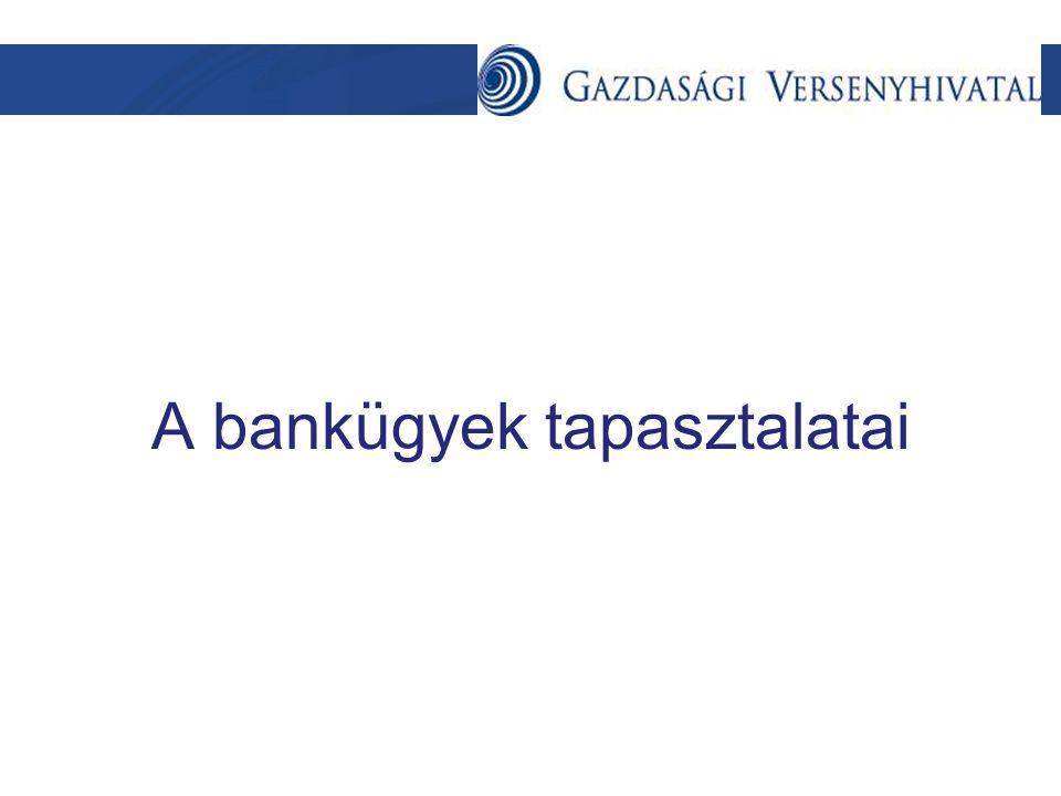 A bankügyek tapasztalatai
