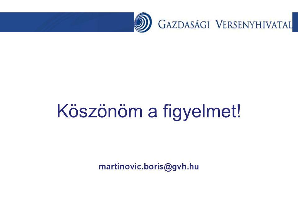 Köszönöm a figyelmet! martinovic.boris@gvh.hu