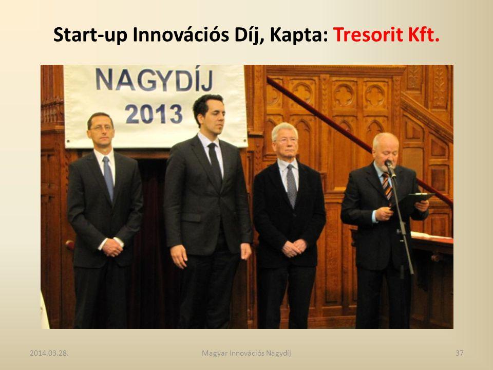 Start-up Innovációs Díj, Kapta: Tresorit Kft. 2014.03.28.37Magyar Innovációs Nagydíj