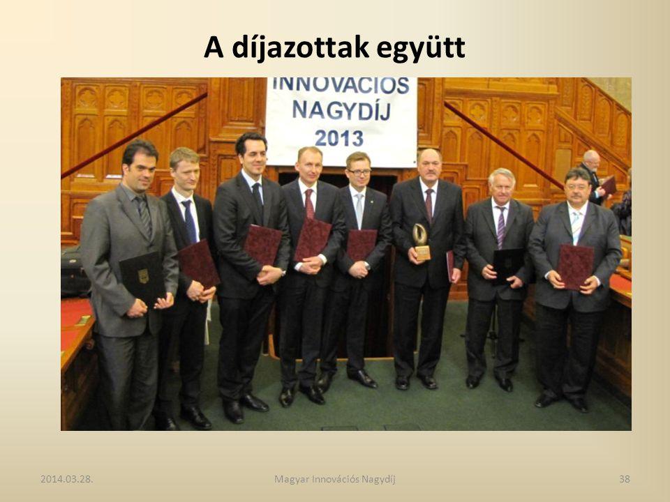 A díjazottak együtt 2014.03.28.38Magyar Innovációs Nagydíj