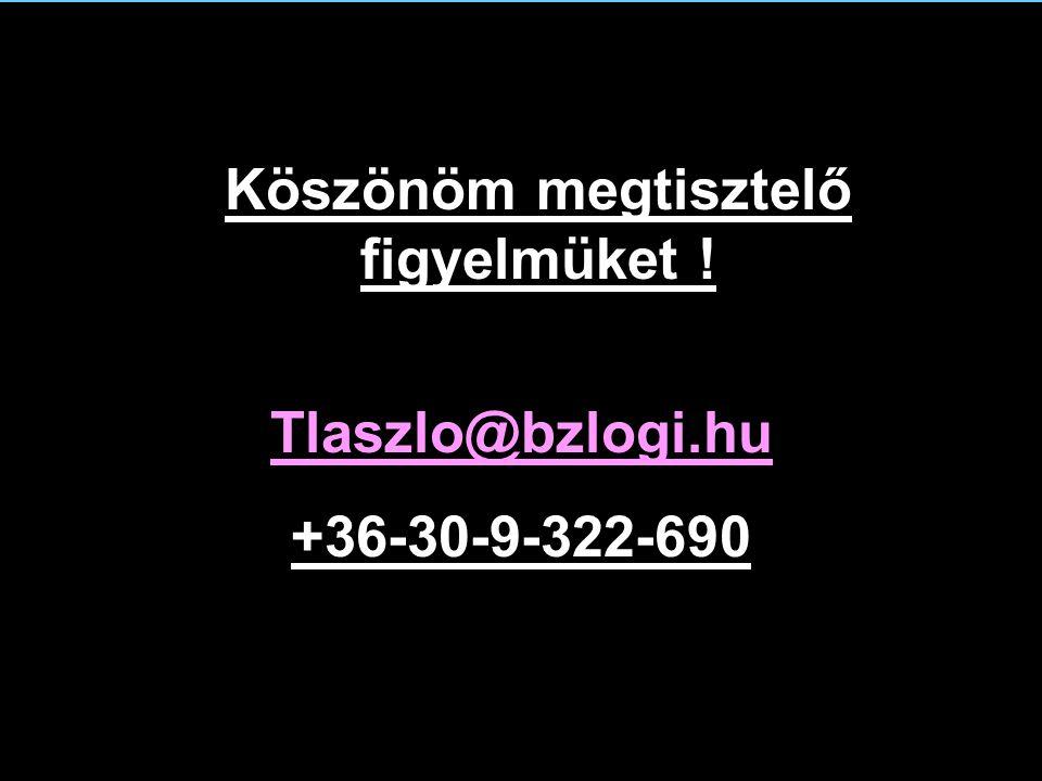Tlaszlo@bzlogi.hu +36-30-9-322-690 Köszönöm megtisztelő figyelmüket !