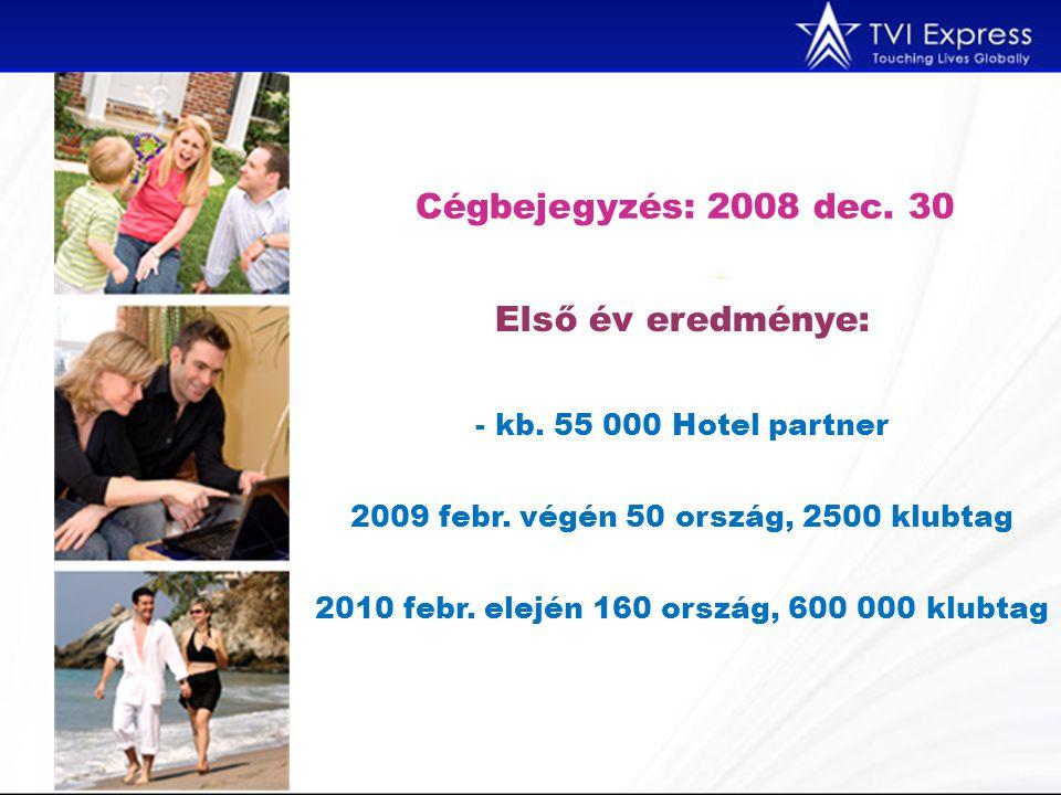 Cégbejegyzés: 2008 dec. 30 Első év eredménye: - kb.