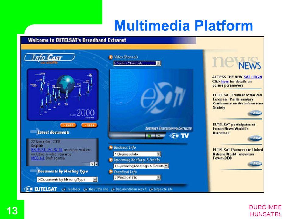 DURÓ IMRE HUNSAT Rt. 13 Multimedia Platform