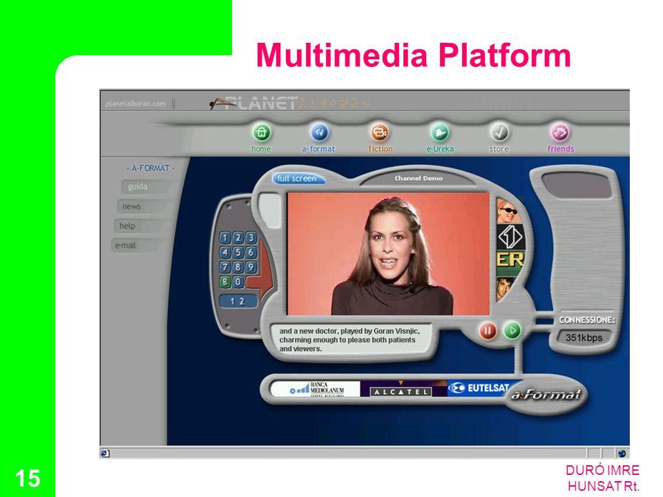 DURÓ IMRE HUNSAT Rt. 15 Multimedia Platform