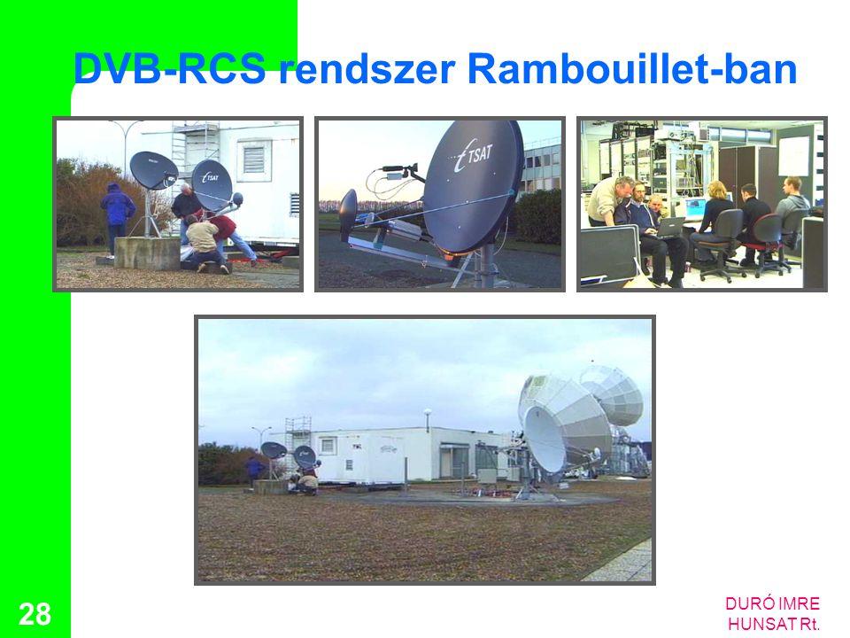 DURÓ IMRE HUNSAT Rt. 28 DVB-RCS rendszer Rambouillet-ban