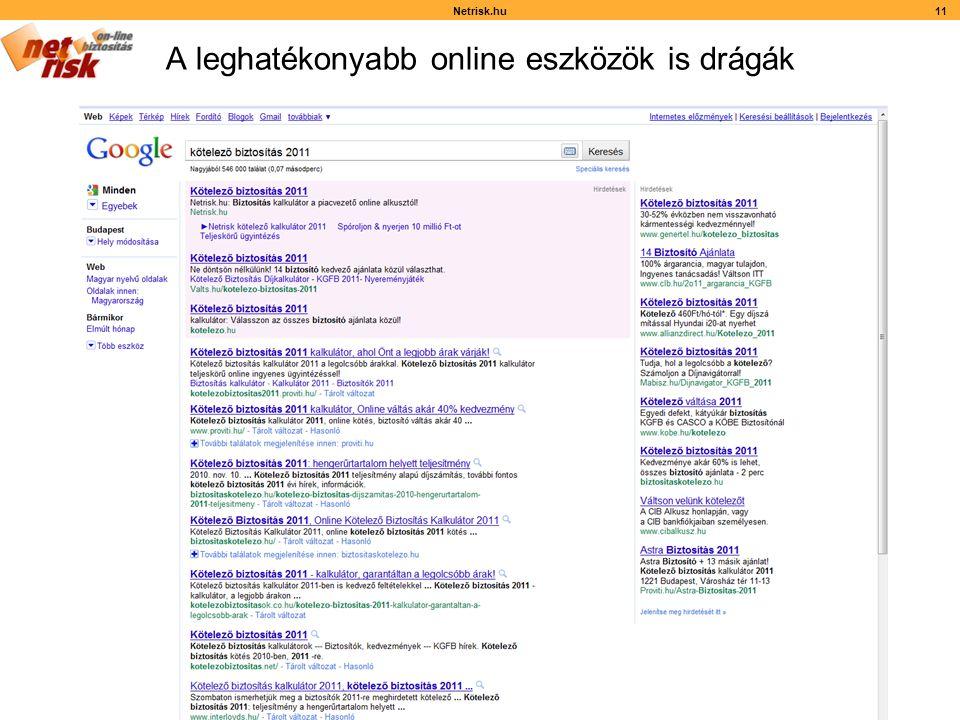 A leghatékonyabb online eszközök is drágák Netrisk.hu11