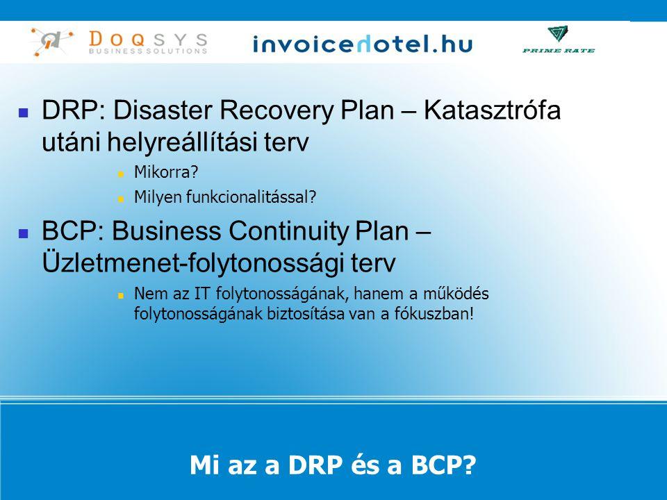 Mi az a DRP és a BCP.