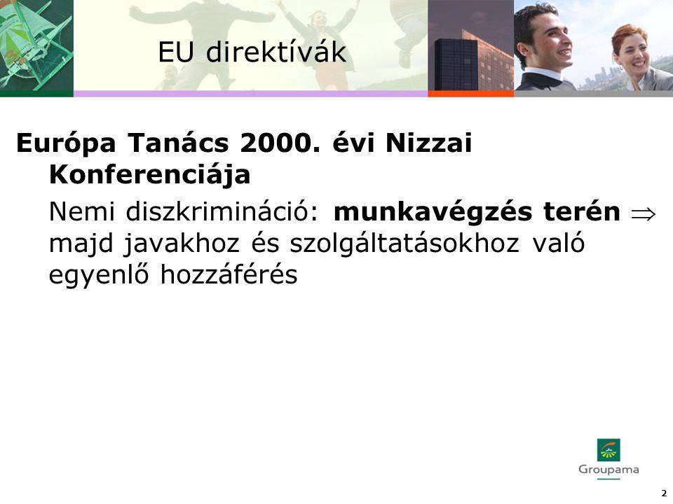 EU direktívák Európa Tanács 2000.
