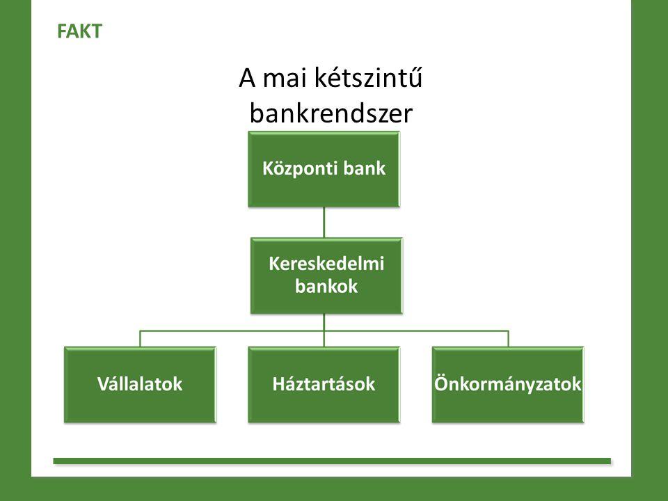 Kereskedelmi bankok - pénzt adnak kölcsön (hiteleznek) - betéteket fogadnak - vállalkozásként működnek - biztonsági felügyelet - más pénzügyi szolgáltatások is FAKT
