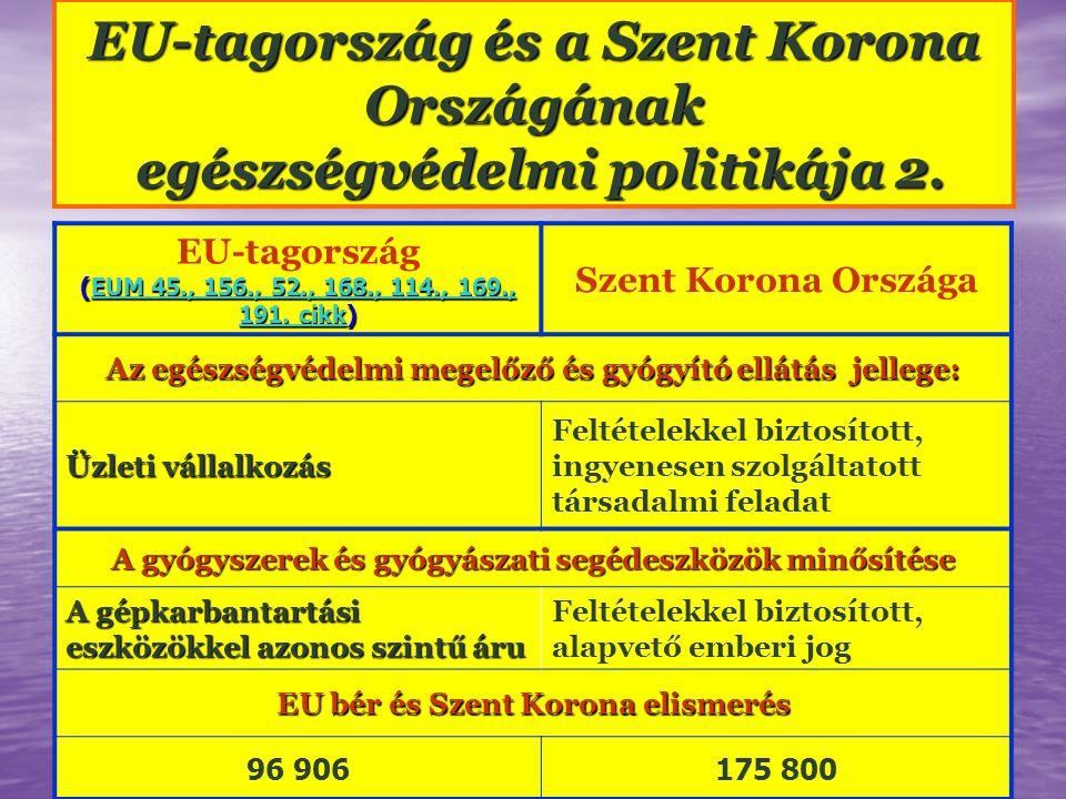 EU-tagország (EUM 45., 156., 52., 168., 114., 169., 191.