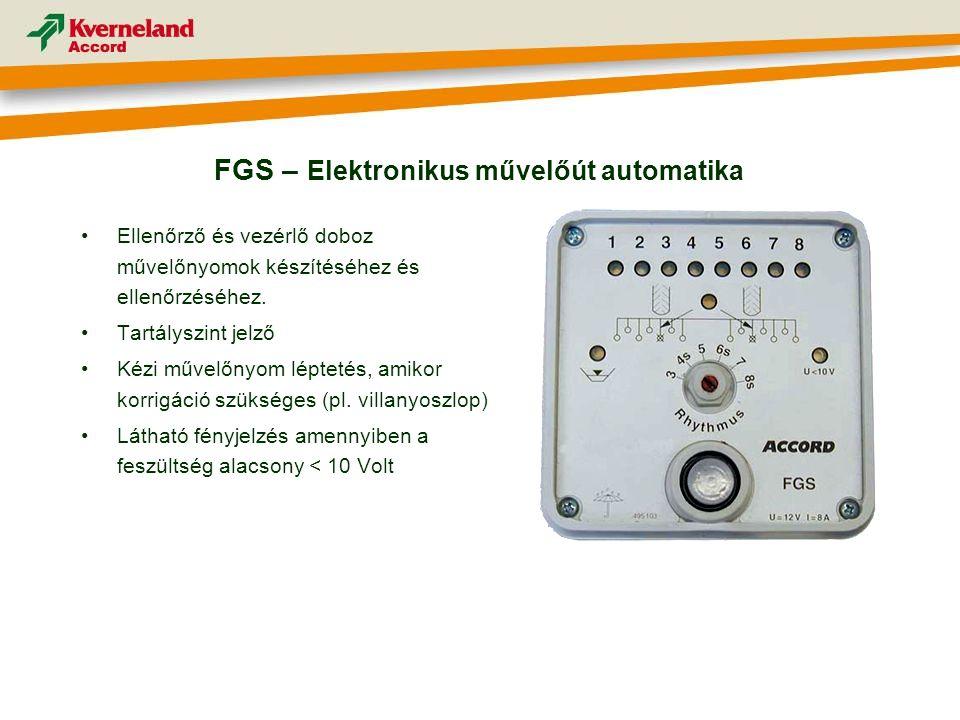 •Ellenőrző és vezérlő doboz művelőnyomok készítéséhez és ellenőrzéséhez.