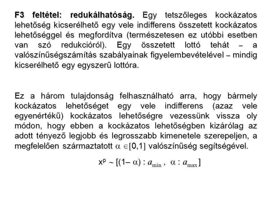 F3 feltétel: redukálhatóság.