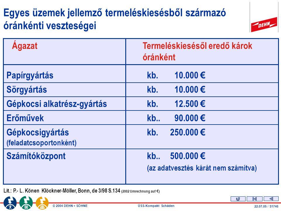 © 2004 DEHN + SÖHNEÜSS-Kompakt Schäden 22.07.05 / S1746 Lit.: P.- L.