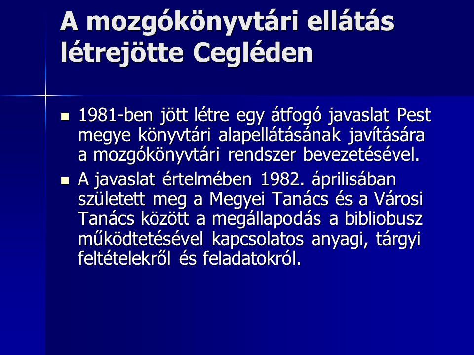 A mozgókönyvtári szolgáltatás elindítása 1984-1987.