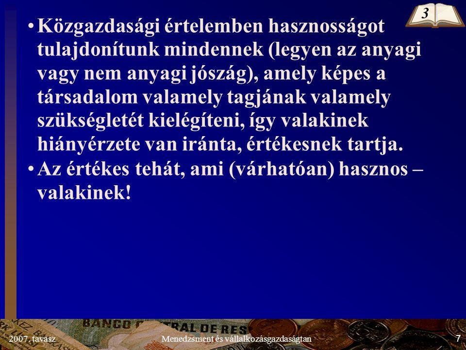 2007.tavasz68Menedzsment és vállalkozásgazdaságtan 1.3.3.