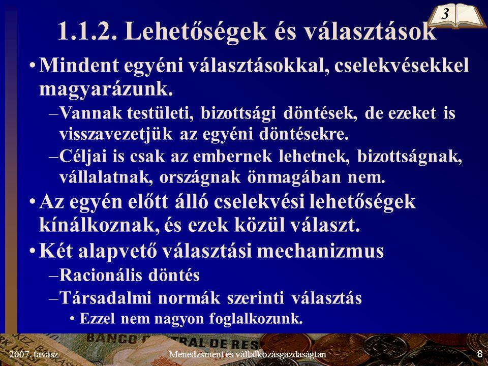 2007.tavasz69Menedzsment és vállalkozásgazdaságtan 1.3.4.