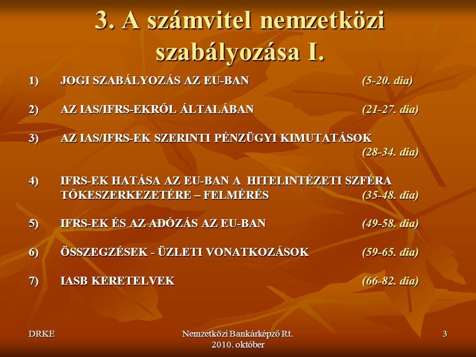 DRKENemzetközi Bankárképző Rt.2010. október 134 Magyar vonatkozások Sztv.