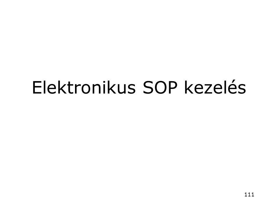 Elektronikus SOP kezelés 111