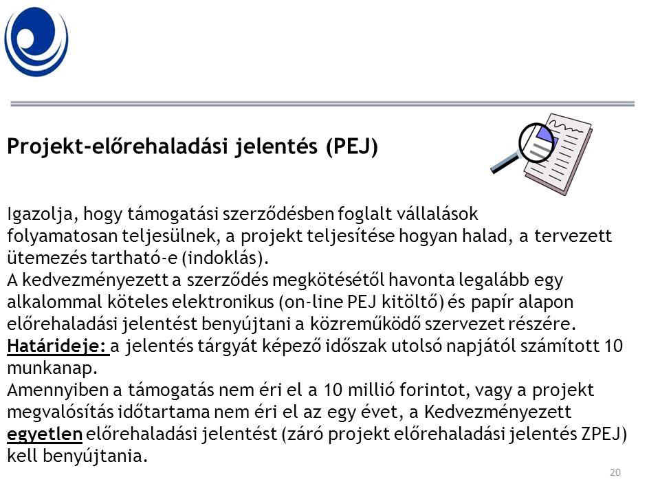 Projekt-előrehaladási jelentés (PEJ) Igazolja, hogy támogatási szerződésben foglalt vállalások folyamatosan teljesülnek, a projekt teljesítése hogyan