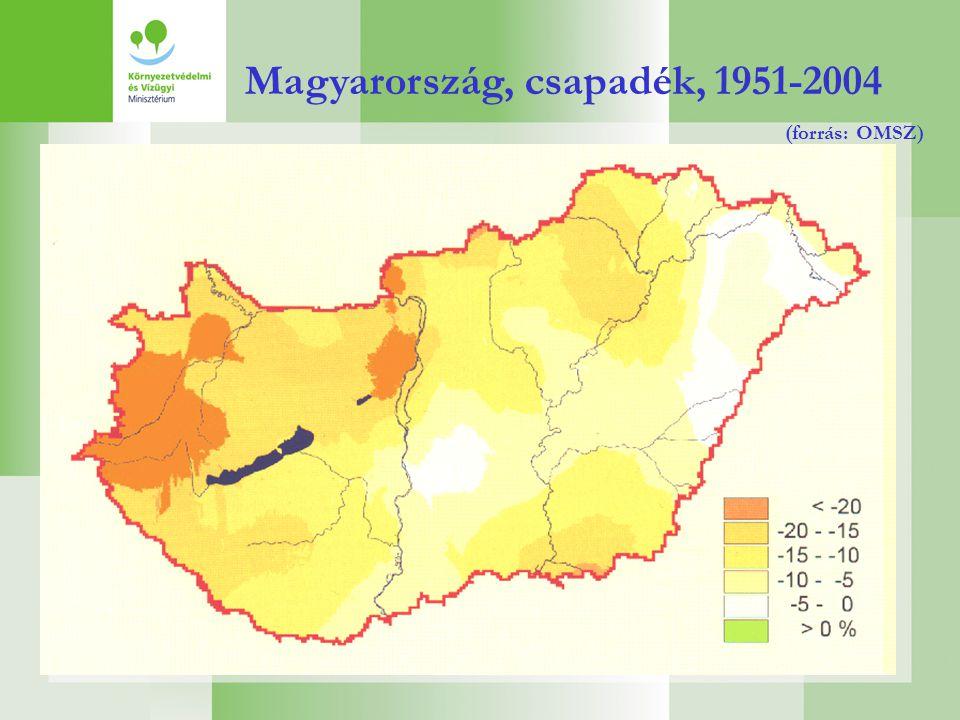 Magyarország, csapadék, 1951-2004 (forrás: OMSZ)