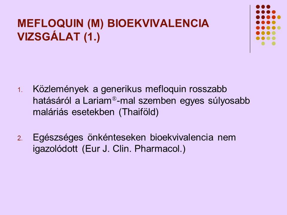 MEFLOQUIN (M) BIOEKVIVALENCIA VIZSGÁLAT (1.) 1.