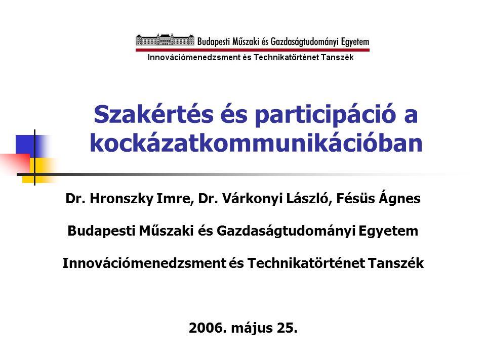 A 'polgári episztemológia' társadalmi konstrukciója  (Sheila Jasanoff 2005)  A közrészvételi kultúrák pluralizálása: 'polgári episztemológiák'  'Polgári episztemológia': az a rendszeres gyakorlati folyamat, amelyben az egyes nemzetek állampolgárai megismerik a közös érdekekkel kapcsolatos tényezőket és alkalmazzák tudásukat a politika irányítására  A laikusok tudásának számos kialakított módja van… egyes nemzetekre jellemző konfigurációnak megfelelően