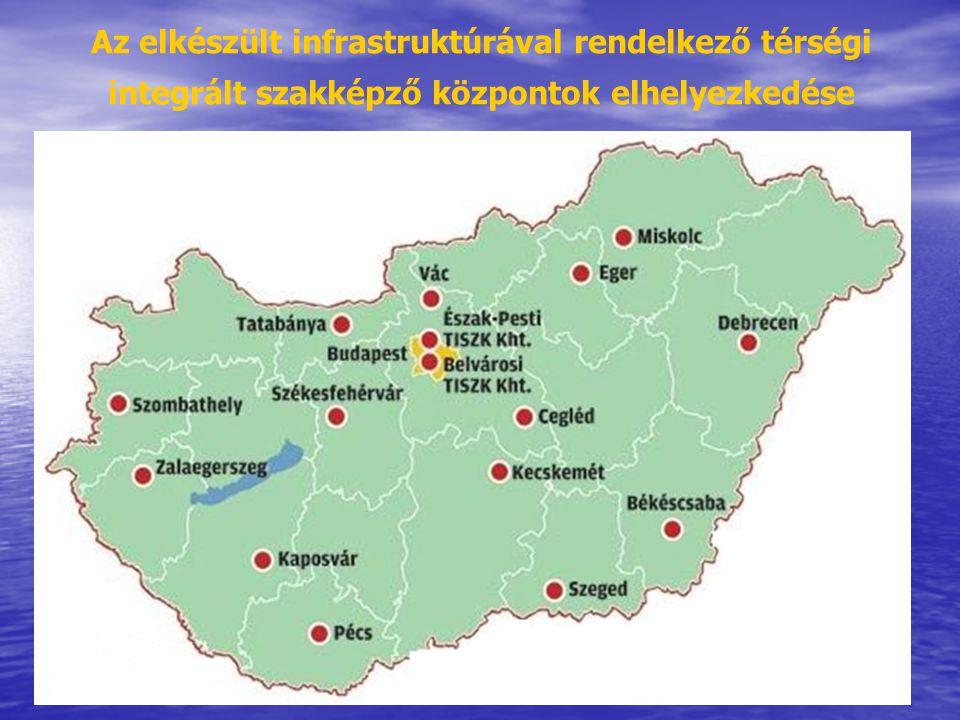 26 Az elkészült infrastruktúrával rendelkező térségi integrált szakképző központok elhelyezkedése