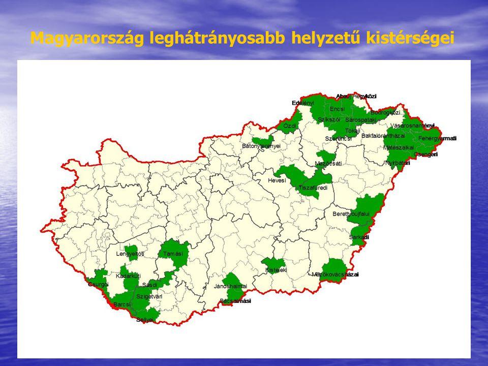 28 Magyarország leghátrányosabb helyzetű kistérségei