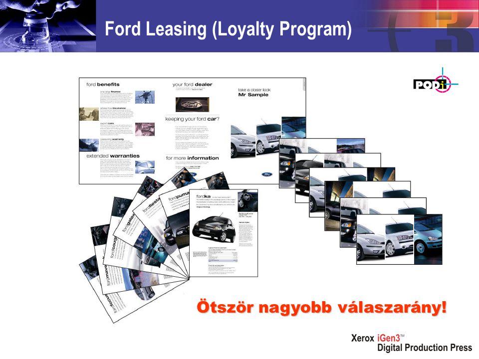Ford Leasing (Loyalty Program) Ötször nagyobb válaszarány!