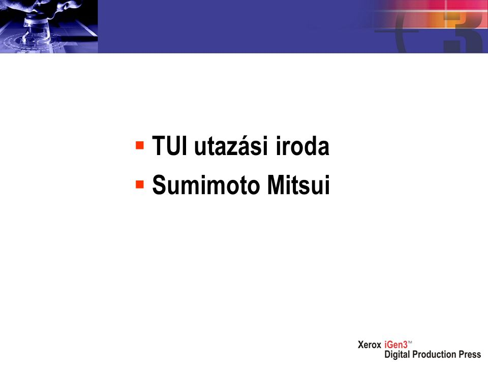  TUI utazási iroda  Sumimoto Mitsui