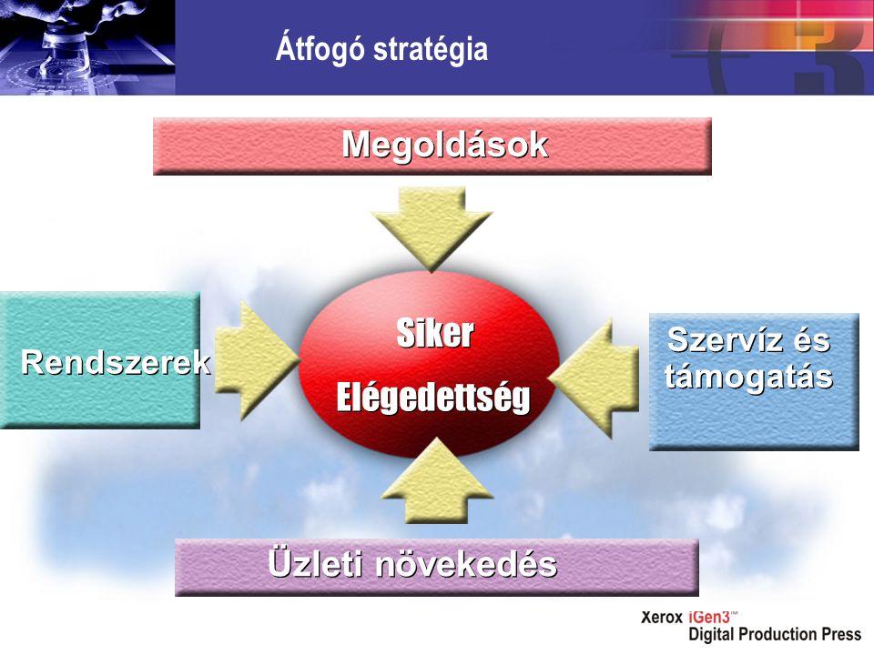 Elégedettség Siker Szervíz és támogatás Rendszerek Üzleti növekedés Megoldások Átfogó stratégia