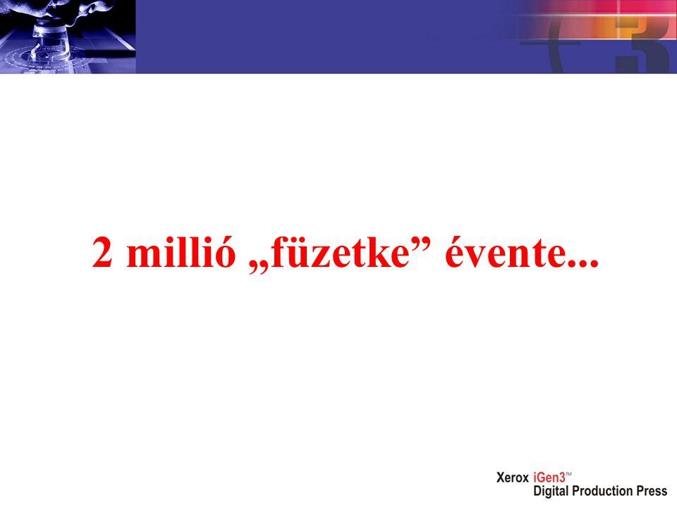 """2 millió """"füzetke évente..."""
