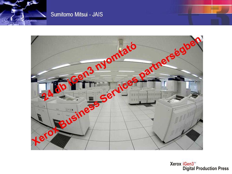 Sumitomo Mitsui - JAIS 24 db iGen3 nyomtató Xerox Business Services partnerségben