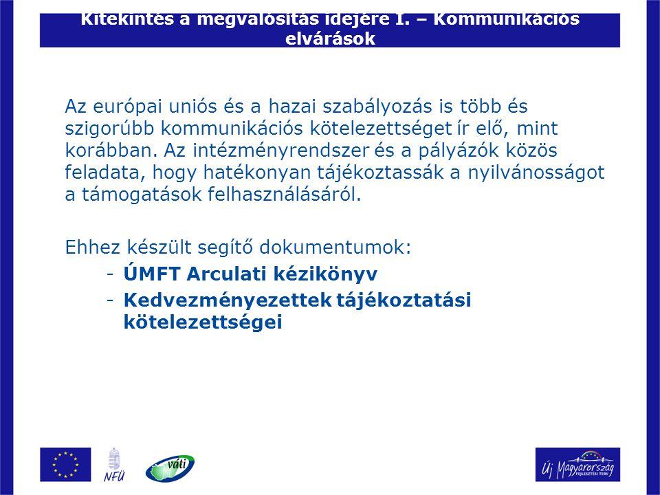 Kitekintés a megvalósítás idejére I. – Kommunikációs elvárások Az európai uniós és a hazai szabályozás is több és szigorúbb kommunikációs kötelezettsé
