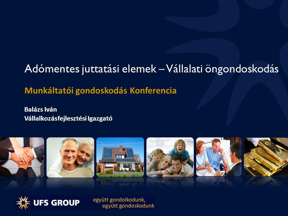 Adómentes juttatási elemek 2012-ben 1.Vissza nem térítendő lakáscélú támogatás 2.Védőoltás 3.Sportrendezvényre szóló belépőjegy vagy bérlet (50.000 Ft-ig) 4.Betegség biztosítás (új elem) 5.Unit Linked teljes életre szóló kockázati életbiztosítás - Befektetési életbiztosítás (korlátlan)