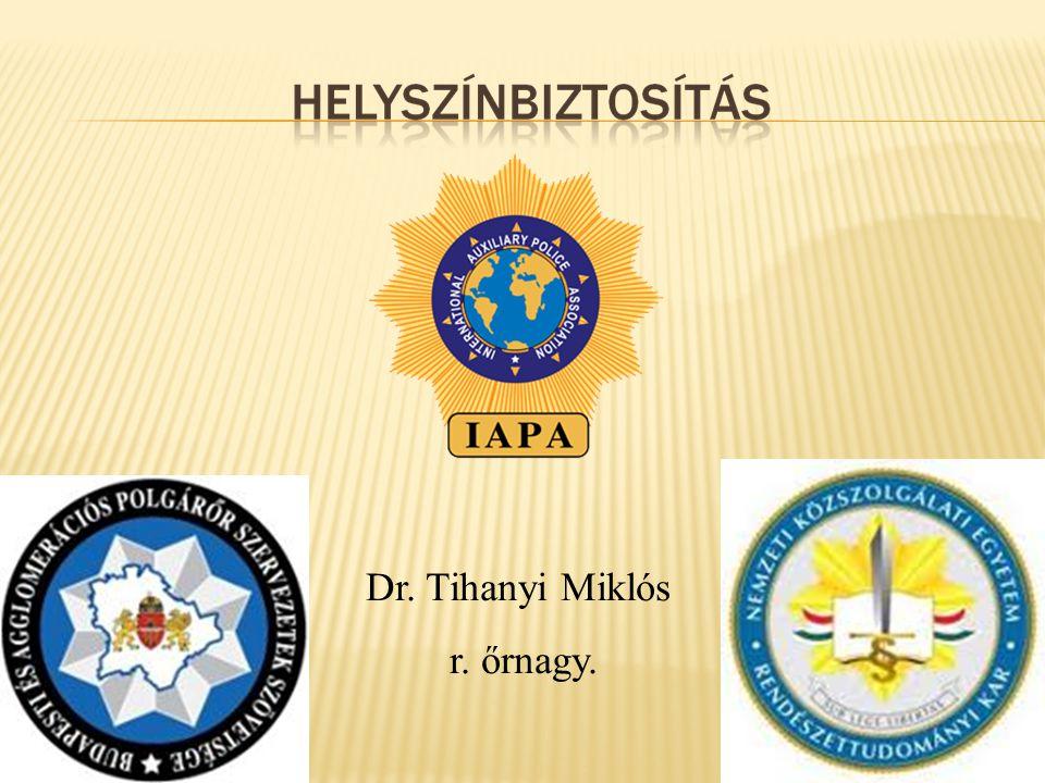 Dr. Tihanyi Miklós r. őrnagy.