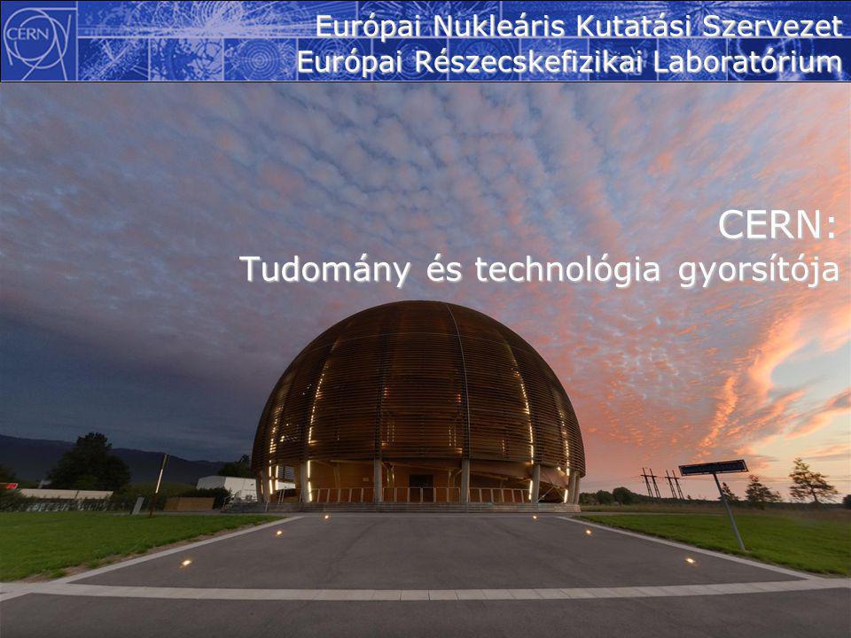 2 CERN Európai Nukleáris Kutatási Szervezet Európai Részecskefizikai Laboratóriuma •1954-ben 12 ország alapította •Ma már 20 ország tagja •21.