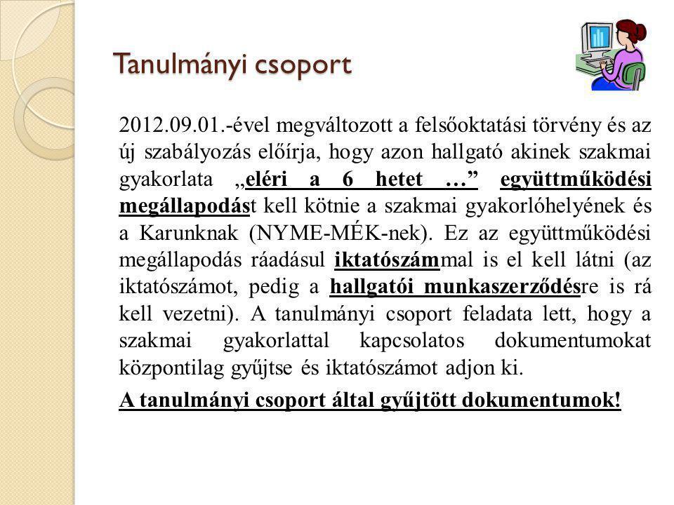 Leadandó dokumentumok 1.Befogadó nyilatkozat 2. Együttműködési megállapodás 3.