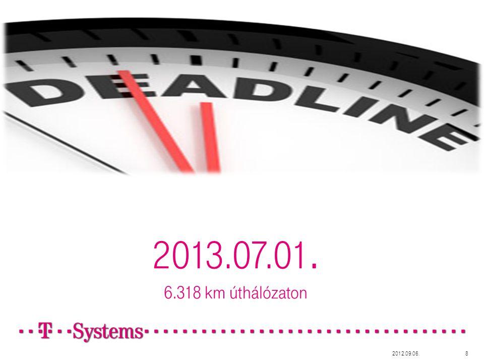 2013.07.01. 6.318 km úthálózaton 2012.09.06.8