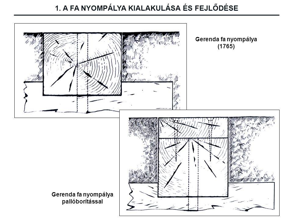 Gerenda fa nyompálya (1765) Gerenda fa nyompálya pallóborítással 1.