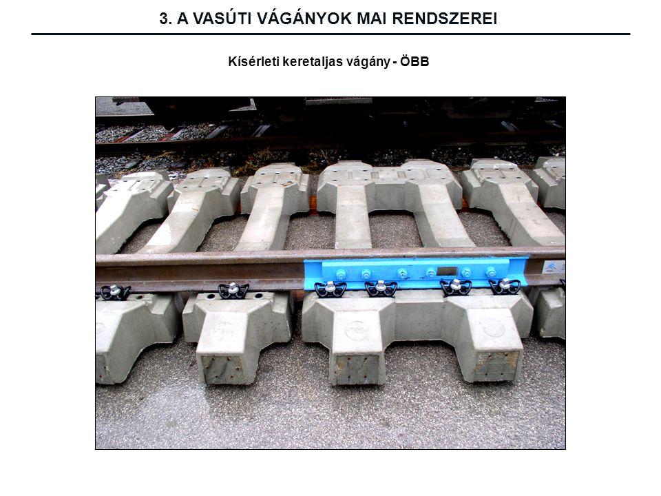 Kísérleti keretaljas vágány - ÖBB 3. A VASÚTI VÁGÁNYOK MAI RENDSZEREI