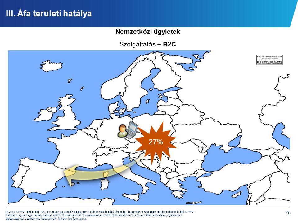 79 © 2013 KPMG Tanácsadó Kft., a magyar jog alapján bejegyzett korlátolt felelősségű társaság, és egyben a független tagtársaságokból álló KPMG- hálóz