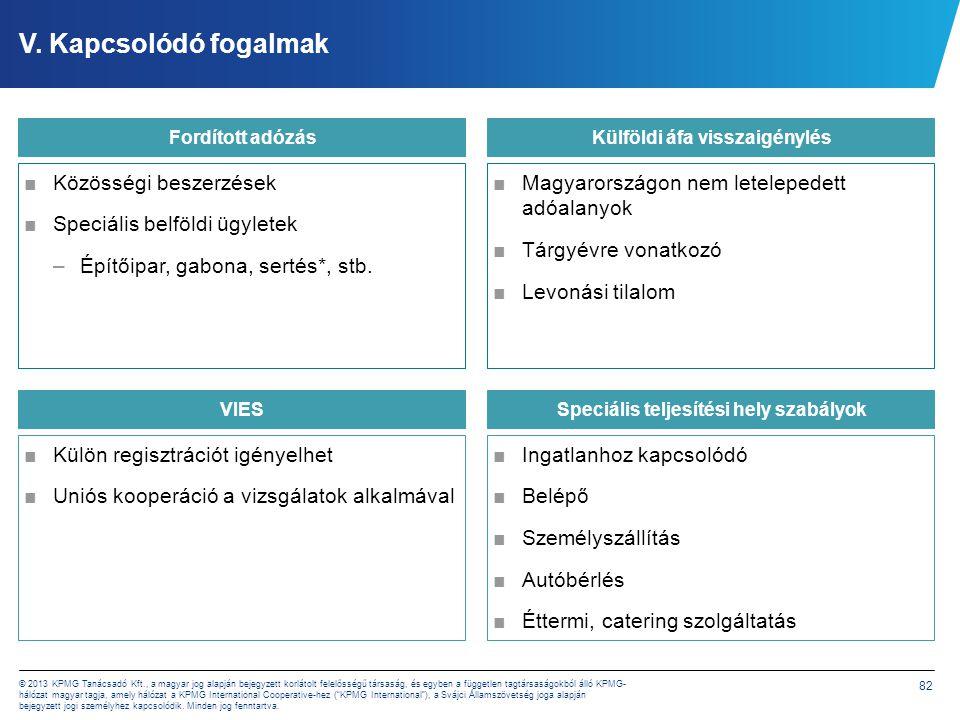 82 © 2013 KPMG Tanácsadó Kft., a magyar jog alapján bejegyzett korlátolt felelősségű társaság, és egyben a független tagtársaságokból álló KPMG- hálóz