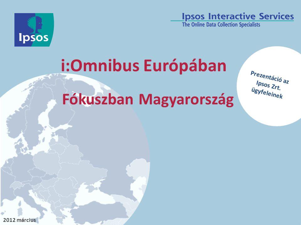 2012 március i:Omnibus Európában Fókuszban Magyarország Prezentáció az Ipsos Zrt. ügyfeleinek