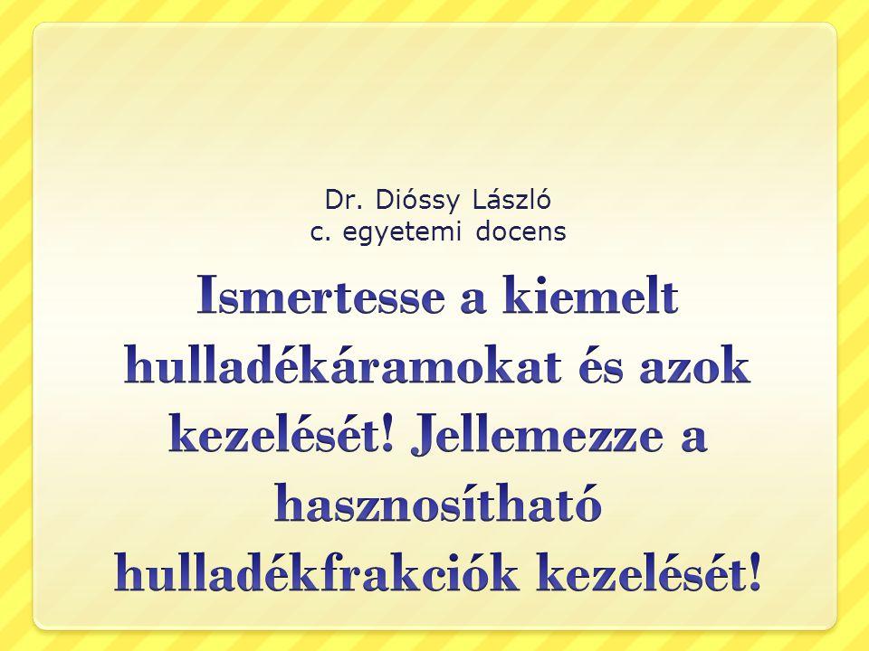 Kiemelt hulladékáramok Gépjárműhulladékok 267/2004.(IX.23.) Korm.