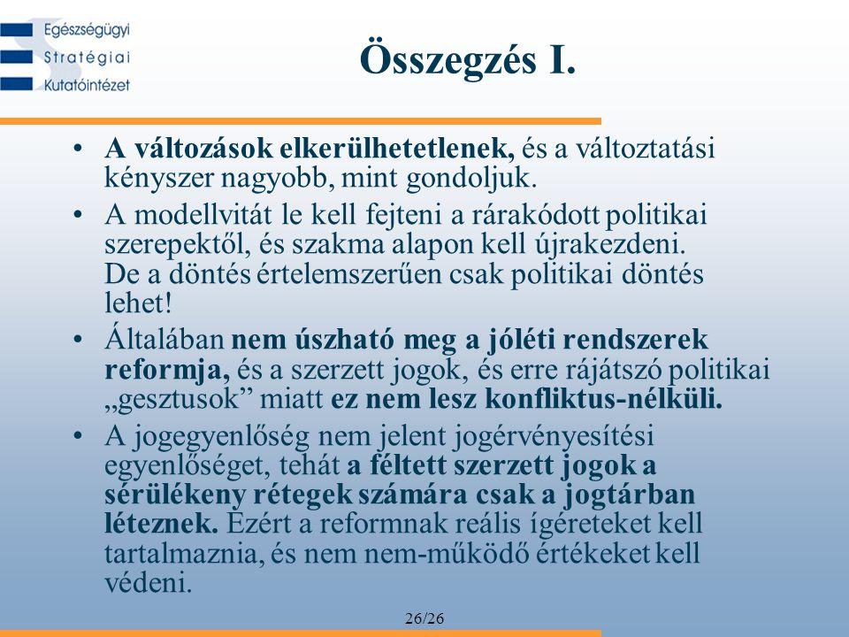 26/26 Összegzés I.