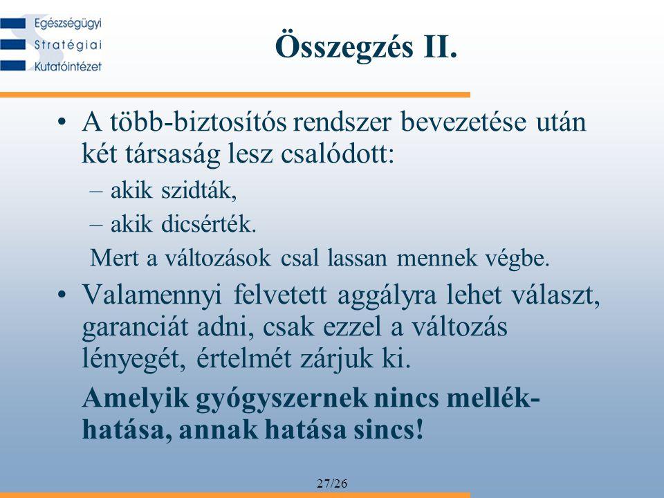 27/26 Összegzés II.