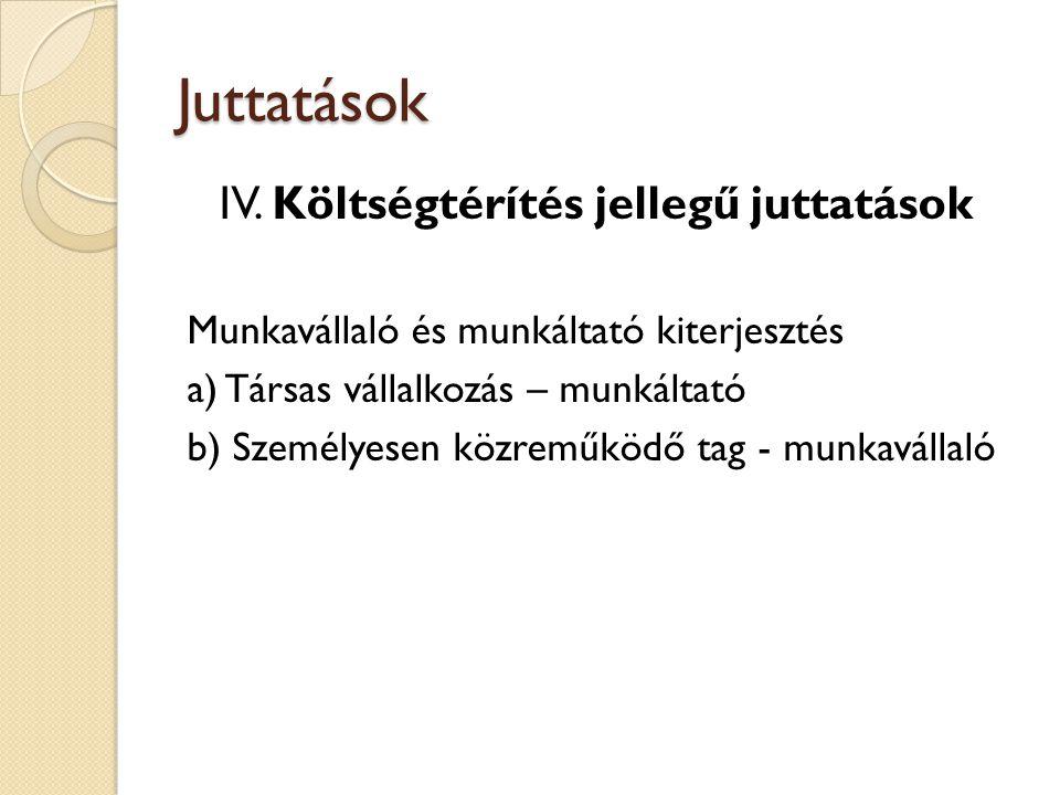 Juttatások IV.