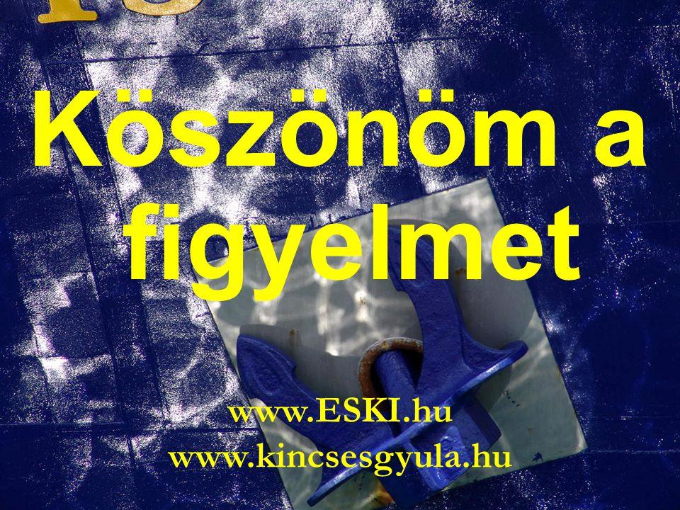 15/14 Köszönöm a figyelmet www.ESKI.hu www.kincsesgyula.hu