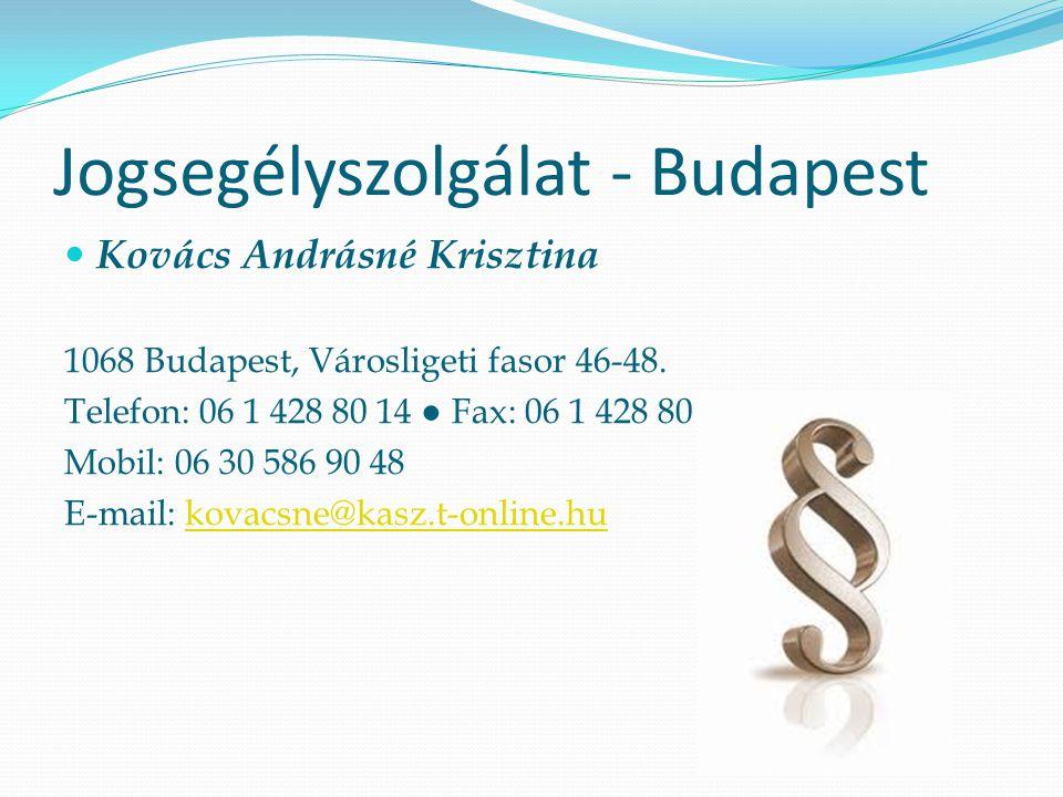 Jogsegélyszolgálat - Eger  Dr.Halmos András  3300 Eger Deák Ferenc út 36.